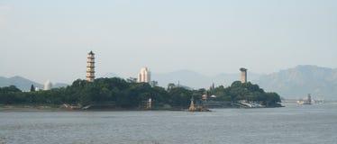 De mening van Chinees schoonheidsvlekje: jiangxin eiland stock fotografie