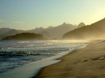 De mening van Corcovado van Niterói Royalty-vrije Stock Foto's