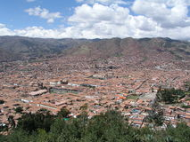 De mening van Cusco Stock Afbeeldingen