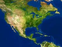 De mening van de aarde - kaart, Noord-Amerika Stock Foto