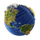 De mening van de aarde van ruimte Stock Foto's
