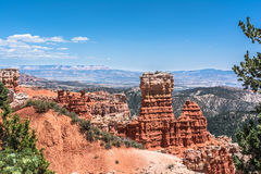 De mening van de Aguacanion, Bryce Canyon National Park, Utah Stock Foto