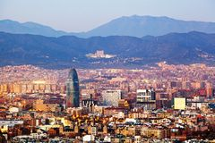 Torre Agbar, Barcelona Stock Foto's