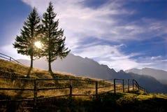 De mening van de berg. Stock Afbeelding