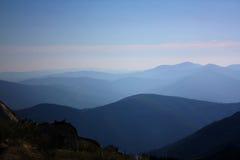 De mening van de berg aan infinitum Royalty-vrije Stock Afbeeldingen