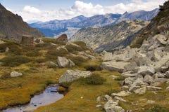 De mening van de berg - Andorra Royalty-vrije Stock Afbeeldingen