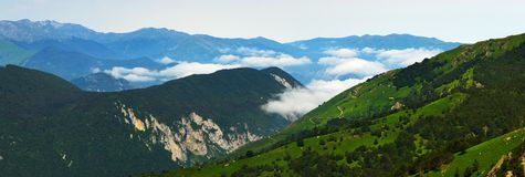 De mening van de berg in Ariege Stock Foto's
