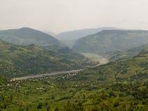 De mening van de berg - Caucas Georgië Royalty-vrije Stock Fotografie