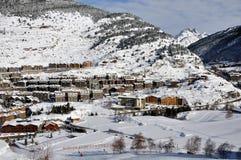 De mening van de berg in de Winter Royalty-vrije Stock Afbeelding