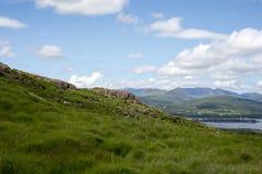 De mening van de berg met wolken Royalty-vrije Stock Foto