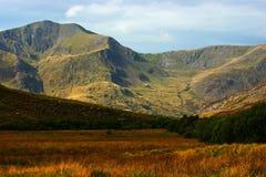 De mening van de berg in Snowdonia Royalty-vrije Stock Fotografie