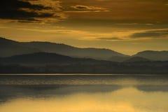 De mening van de berg in Thailand stock foto