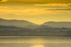 De mening van de berg in Thailand stock fotografie
