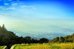 De Mening van de berg, Thailand Royalty-vrije Stock Foto