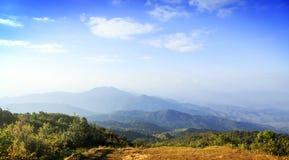 De Mening van de berg, Thailand Royalty-vrije Stock Foto's