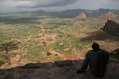 De mening van de berg in Tigray Stock Foto's