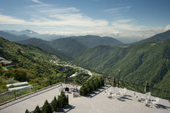 De Mening van de berg van Taiwan stock afbeeldingen
