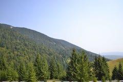 De mening van de berghelling van kant van de weg Stock Afbeeldingen