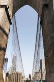 De Mening van de binnenstad van de Brug van Brooklyn Royalty-vrije Stock Fotografie
