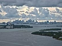 De mening van de binnenstad van Miami Stock Foto