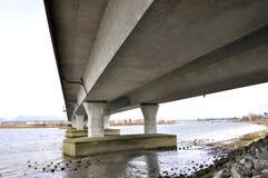 De Mening van de bodem van de brug Stock Foto