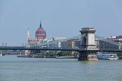 De mening van de bouw van de Hongaar parliamen Royalty-vrije Stock Afbeeldingen