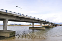 De Mening van de brug Royalty-vrije Stock Afbeeldingen