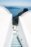 De Mening van de caldera, Santorini Royalty-vrije Stock Afbeelding