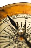 De mening van de close-up van het uitstekende kompas Royalty-vrije Stock Foto's