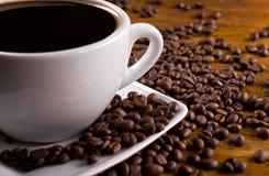De mening van de close-up van koffiekop Royalty-vrije Stock Foto