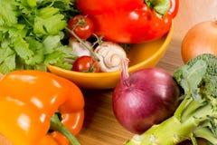 Verse groenten voor een maaltijd Royalty-vrije Stock Afbeelding