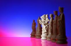 De mening van de close-up van schaak. stock foto's