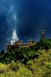 De mening van de dag van het kasteel in Danba Sichuan China Stock Foto