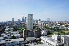 De mening van de dagtijd over de stad in Londen Stock Afbeelding