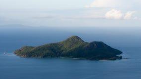 De Mening van de de Aardsleep van Glacistrois Freres in Seychellen Stock Fotografie
