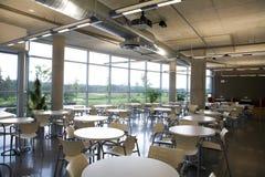 De mening van de de cafetarialengte van het bureau. Stock Fotografie