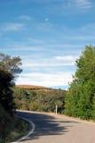 De mening van de de heuveltopweg van Californië stock fotografie