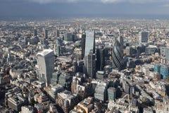 De mening van de de stadshorizon van Londen van hierboven Royalty-vrije Stock Foto
