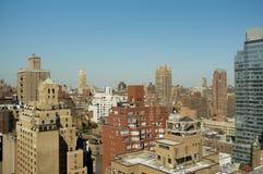 De mening van de de Stadshorizon van New York van de Hogere Kant van het Oosten Stock Foto's