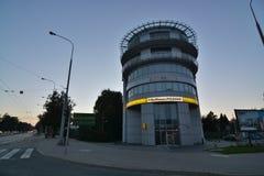 De mening van de de stadsnacht van Lublin stock fotografie