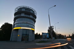 De mening van de de stadsnacht van Lublin royalty-vrije stock foto's