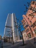 De mening van de de stadsstraat van Frankfurt Stock Fotografie