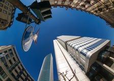 De mening van de de stadsstraat van Frankfurt Stock Foto
