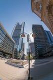 De mening van de de stadsstraat van Frankfurt Royalty-vrije Stock Foto's