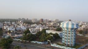De mening van de de stadswolkenkrabber van Surat over zondag bij katargam Royalty-vrije Stock Fotografie