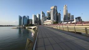 De mening van de de stadszonsopgang van Singapore stock videobeelden
