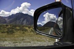De mening van de de wegspiegel van Nz Royalty-vrije Stock Fotografie