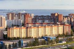 De mening van de de Woonwijkbaai van stads heilige-Petersburg Stock Foto