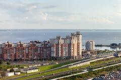 De mening van de de Woonwijkbaai van stads heilige-Petersburg Royalty-vrije Stock Fotografie