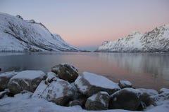 De mening van de fjord Royalty-vrije Stock Foto's